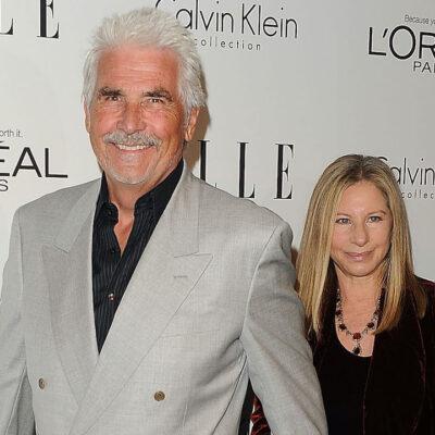 James Brolin and Barbra Streisand on the red carpet