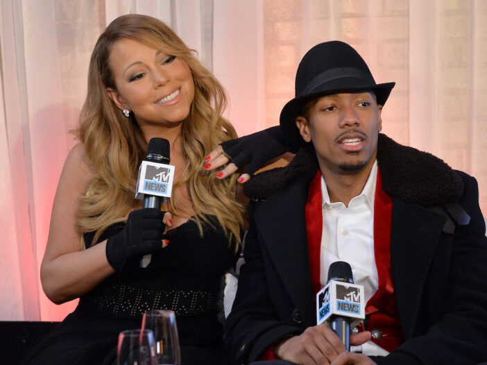 Mariah Carey and Nick Cannon during an MTV interview
