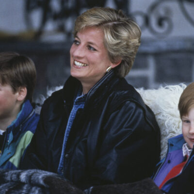 archive photo of Princess Diana with young Princes William and Harry