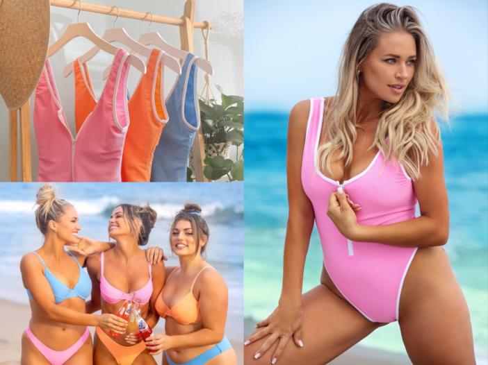 Image of models showcasing KRISTE LOUELLE x Beach Babe Swimwear