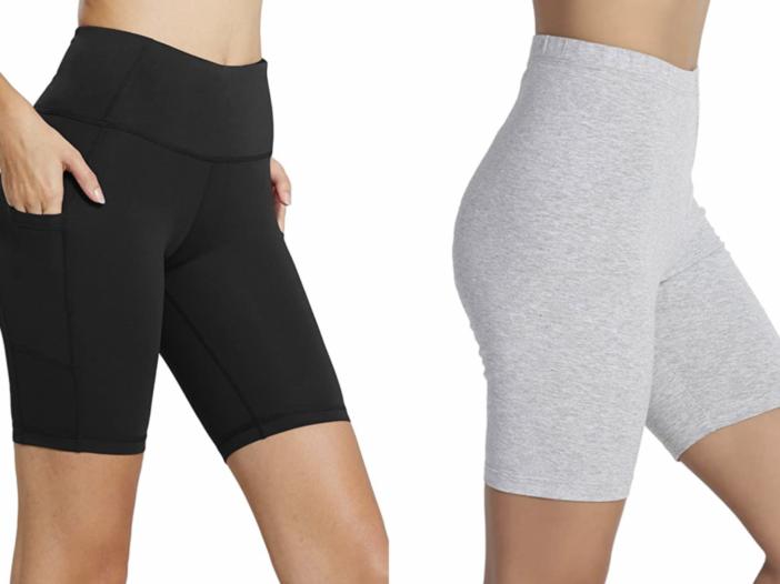 Image of women wearing bike shorts