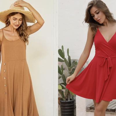 Women modeling amazon sundresses