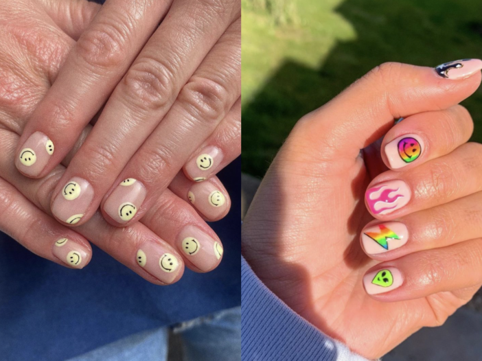 Image of smiley face nails