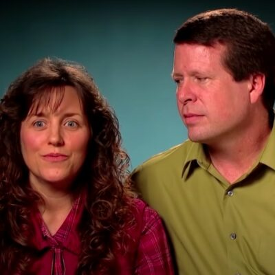 screenshot of Jim Bob Duggar and Michelle Duggar talking to the camera in 19 Kids And Counting