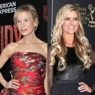 side by side photos of Renee Zellweger and Christina Haack