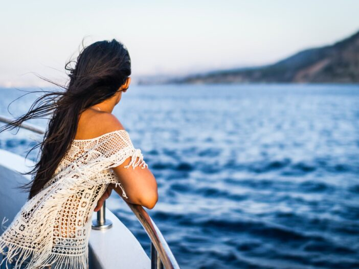 Image of a woman on a cruise.