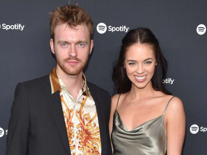 Finneas O'Connell and his girlfriend Claudia Sulewski at a Spotify party in 2020
