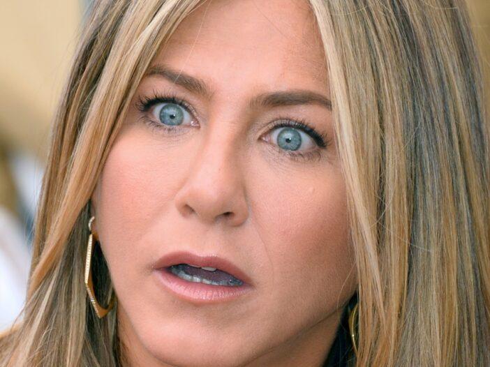 Jennifer Aniston looks mildly surprised