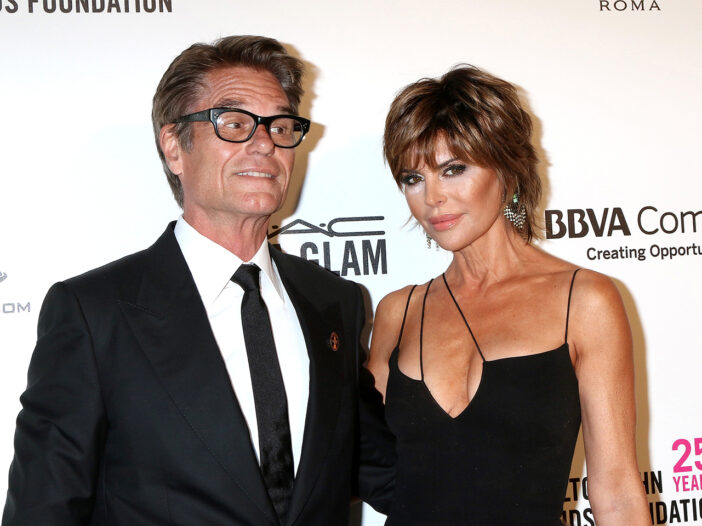 Harry Hamlin and Lisa Rinna at a red carpet event