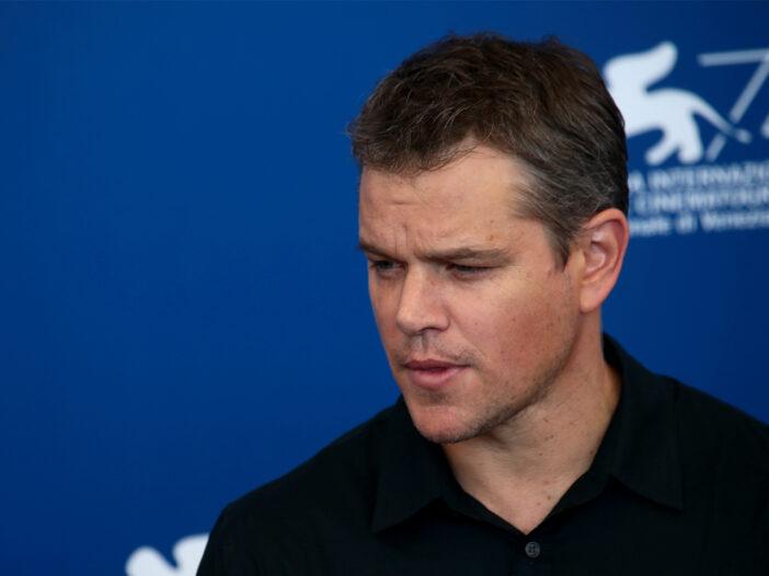 Matt Damon looking down