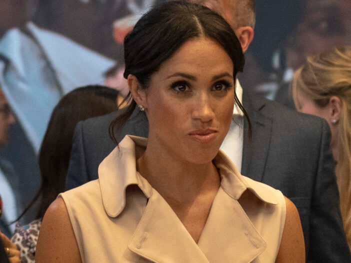 Meghan Markle looking annoyed