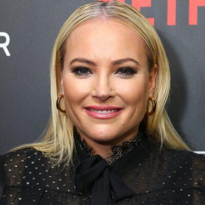 Meghan McCain wears a black blouse to a Netflix premiere