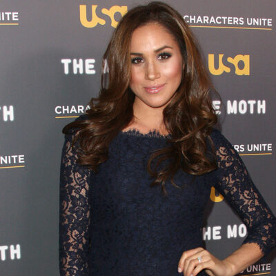 Meghan Markle at a red carpet event for USA network