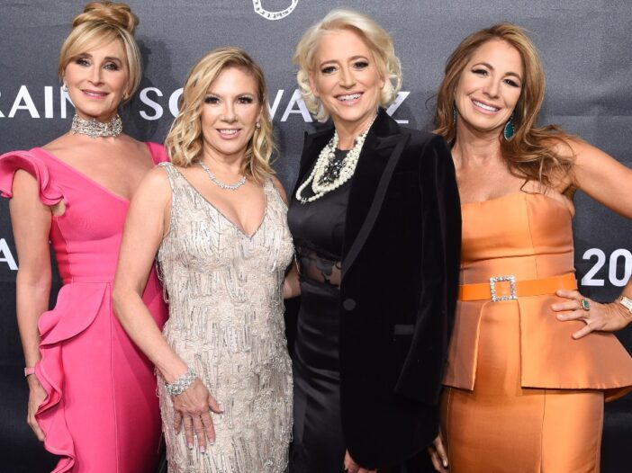 Four members of the cast of Real Housewives Of New York pose on the red carpet