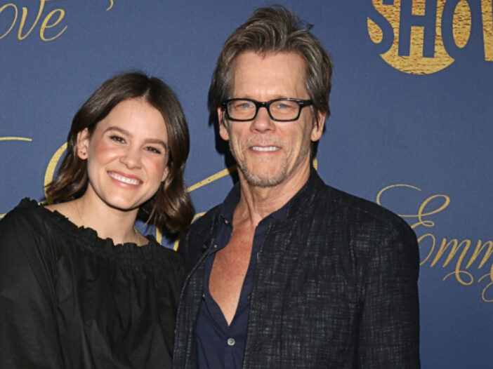 (Kathy Hutchins/Shutterstock.com) Sosie and Kevin Bacon smiling at the Showtime Emmy Eve Nominee Party