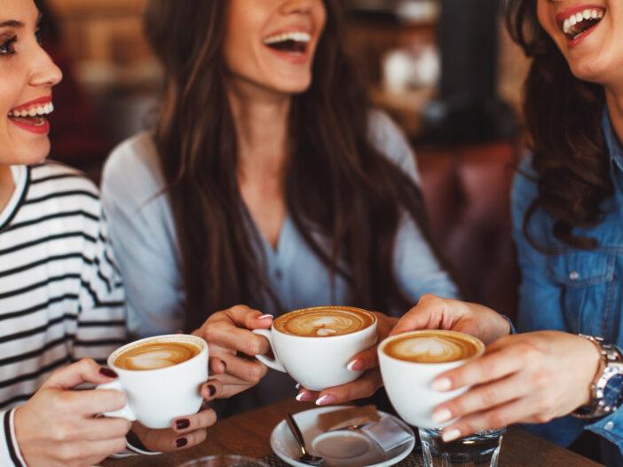 Image of three women drinking coffee.
