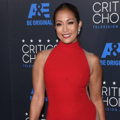 (DFree/Shutterstock.com) Carrie Ann Inaba wears a red dress at Critics Choice Awards