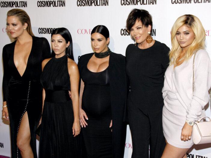 Khloe, Kourtney, and Kim Kardashian with Kris and Kylie Jenner