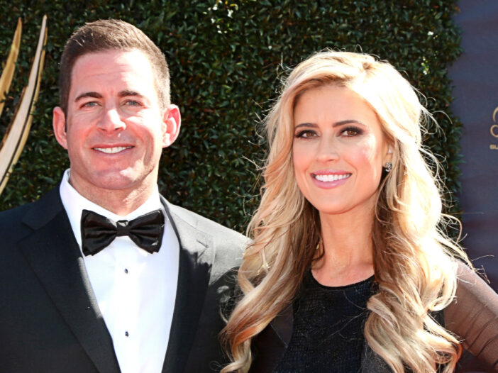 (Kathy Hutchins/Shutterstock.com) Tarek El Moussa and Christina Haack smiling at the 44th Daytime Emmy Awards