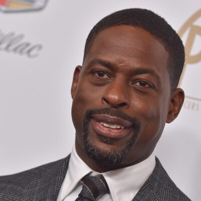 Close up of Sterling K. Brown in front of a white background