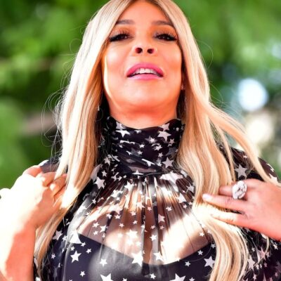 Wendy Williams wears a sheer black dress at her Hollywood Walk Of Fame ceremony