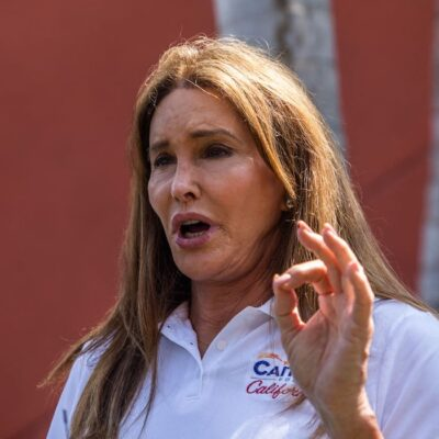 Caitlyn Jenner in a white shirt