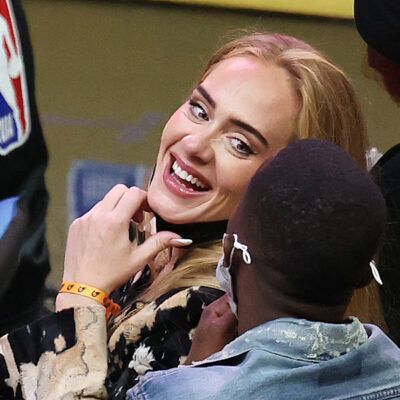 Adele courtside at the NBA Finals with Rich Paul