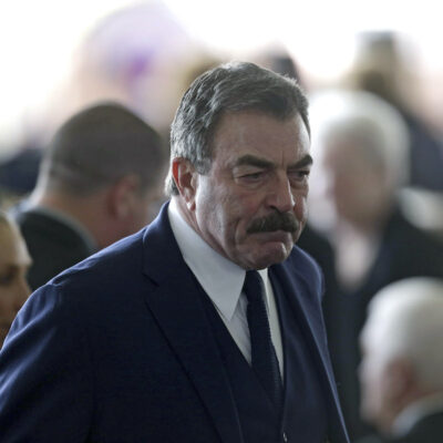 Tom Selleck in a navy suit