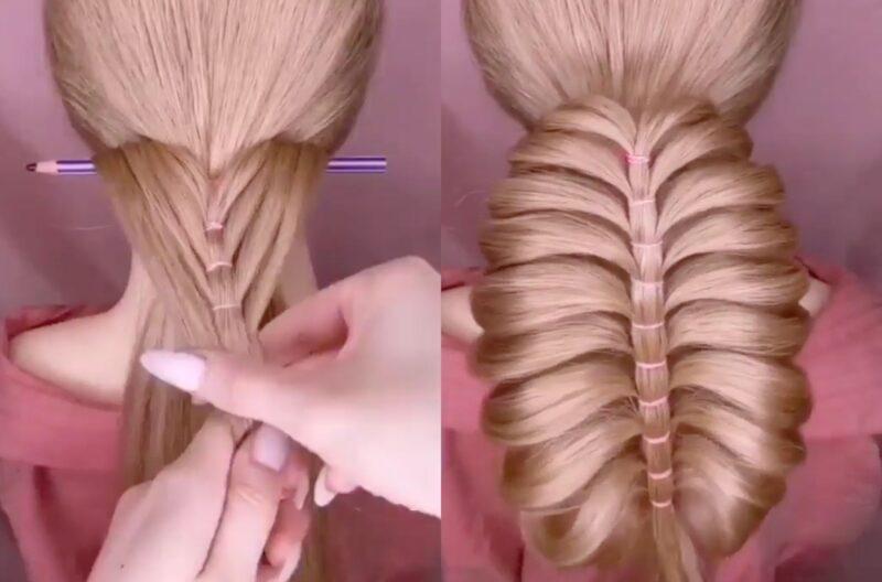 Image of waterfall ponytail