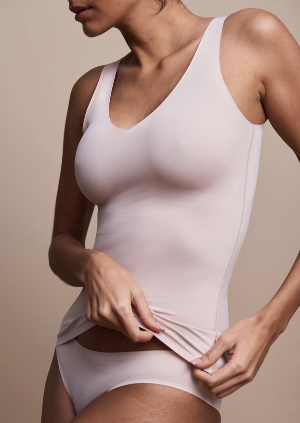 EBY Seamless Tank In Rose Dust