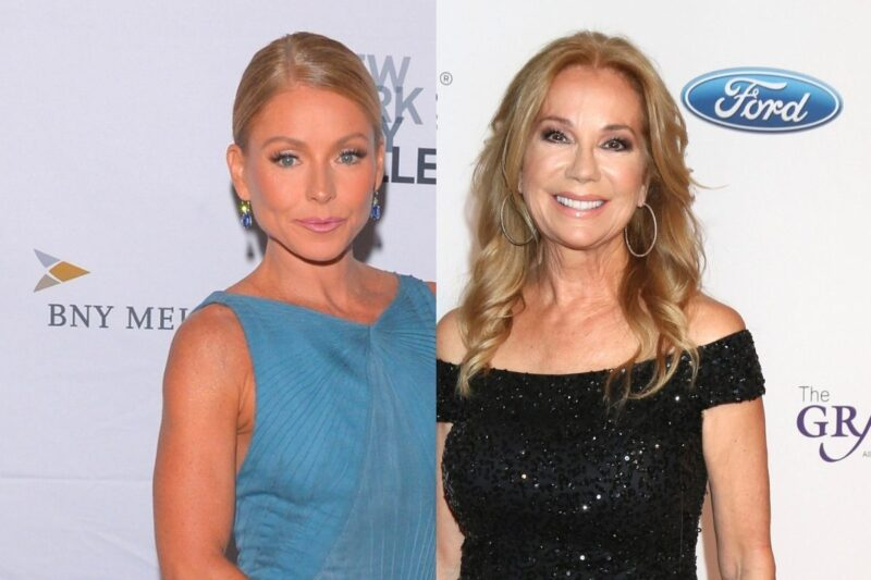 side by side photos of Kelly Ripa and Kathie Lee Gifford