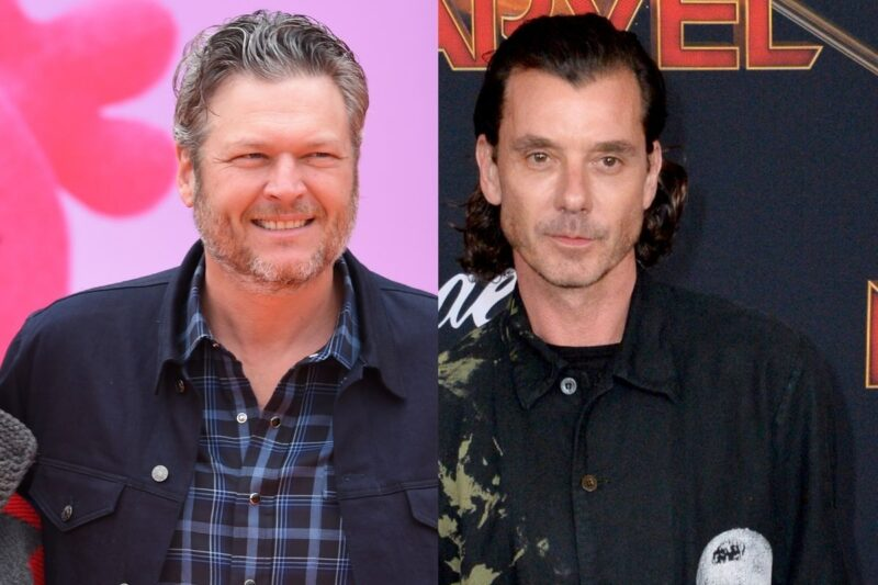 side by side photos of Blake Shelton and Gavin Rossdale