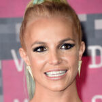 Close up of Britney Spears smiling