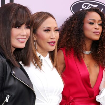 Four members of The Talk who have left within the last year: Marie Osmond, Carrie Ann Inaba, Eve, Sharon Osbourne