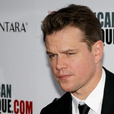 Matt Damon looking serious