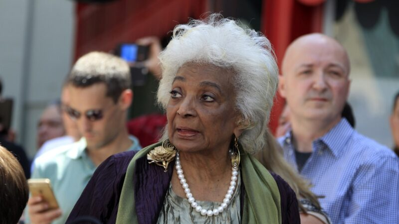 Nichelle Nichols attends a Hollywood Walk Of Fame ceremony for the late Stan Lee