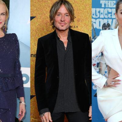 Three separate photos from left to right: Nicole Kidman, Keith Urban, Rita Ora