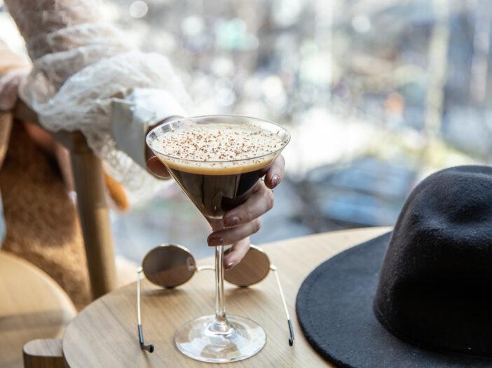 Image of an espresso martini.