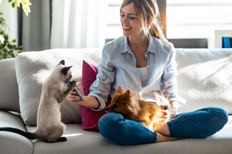 Image of woman with animals.