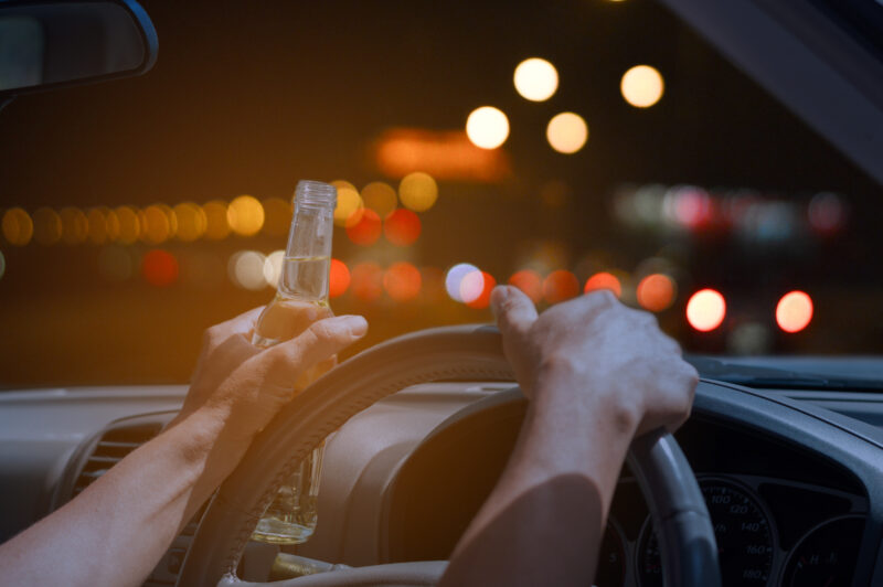 Image of drunk driving