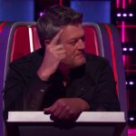 screenshot of Blake Shelton in his chair on The Voice