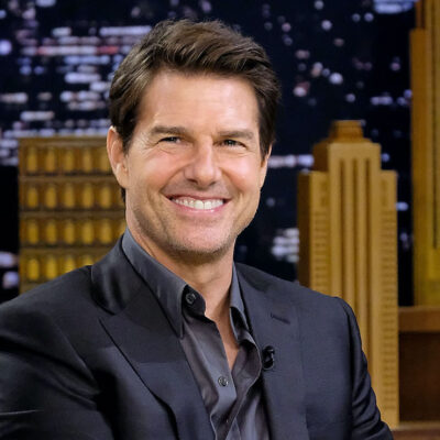 Tom Cruise smiling on Jimmy Fallon's show
