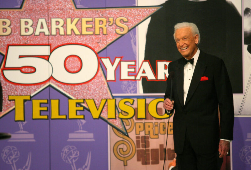 """LOS ANGELES - APRIL 17: Host Bob Barker speaks during the tapeing of a final primetime special of """"The Price Is Right"""" at CBS Television City on April 17, 2007 in Los Angeles, California."""