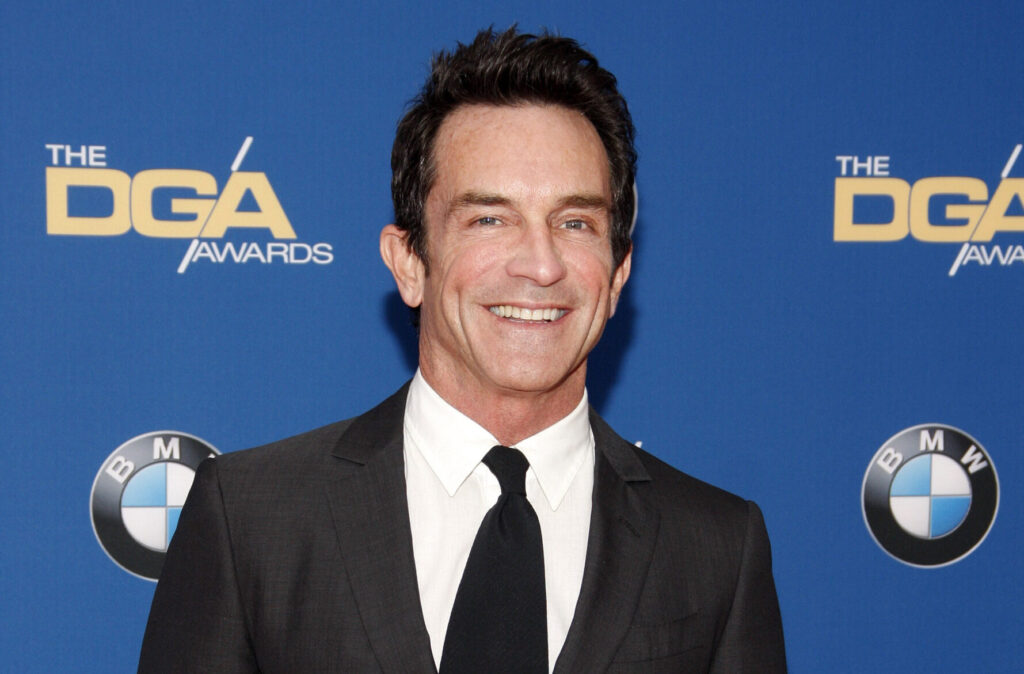 Jeff Probst wearing at suit at the 68th Annual Director's Guild of America Awards in 2016