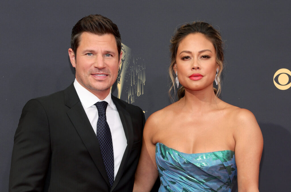 Nick and Vanessa Lachey at the 2021 Emmy Awards