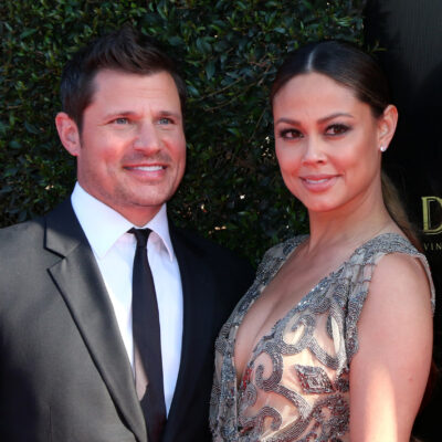 Nick and Vanessa Lachey at the Daytime Emmy Awards in 2018
