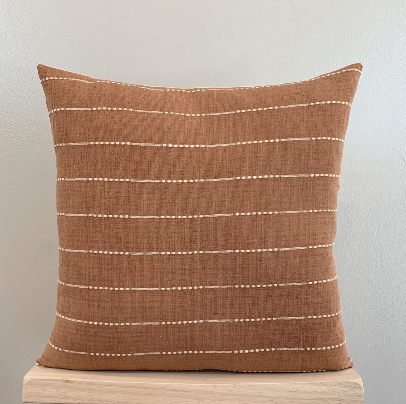 Rust Stripe Pillow Cover