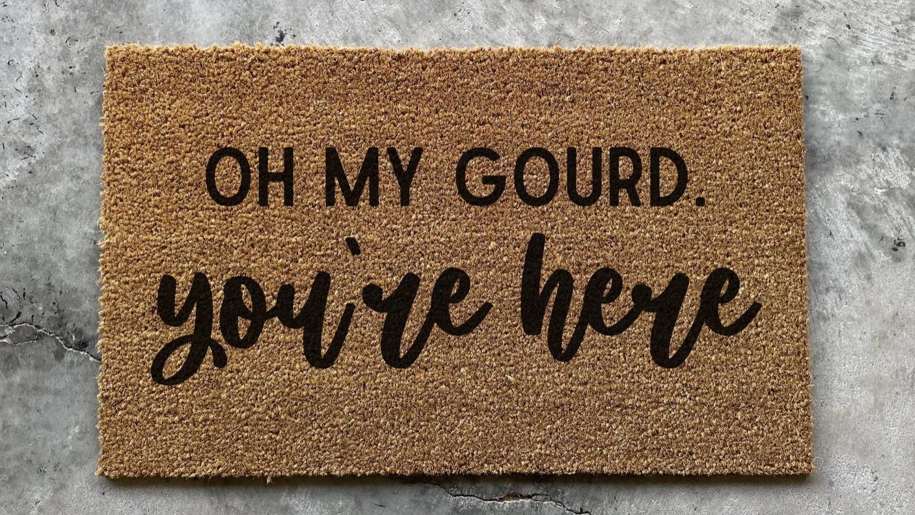 Oh My Gourd You're Here Doormat