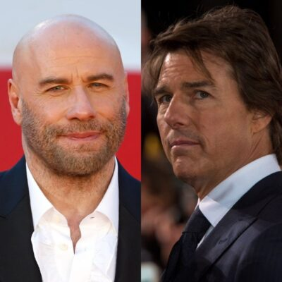 side by side images of John Travolta and Tom Cruise