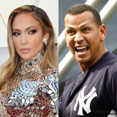 side by side photos of Jennifer Lopez and Alex Rodriguez